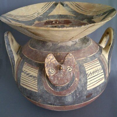 Ancient Daunian Pottery Funnel-Krater