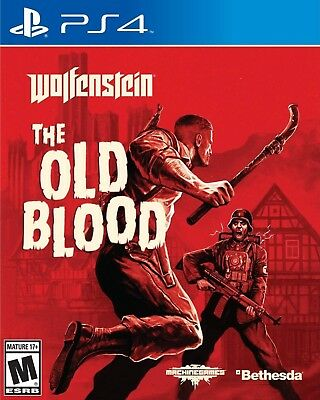 NEW  Wolfenstein The Old Blood - PS4 Pal  R 18+