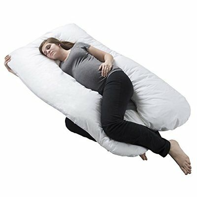 Pregnancy Pillow, Full Body Maternity Pillow with Contoured U-Shape by Bluestone