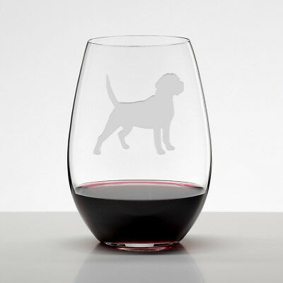 dd222b3c4ca Beagle Gift, Etched Stemless Wine Glasses, Handmade Dog Lover Gift