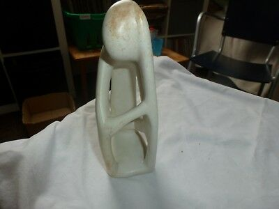 Vintage Soapstone Carved Ornament Thinking Man Approx 19 cm High x 8 cm Wide