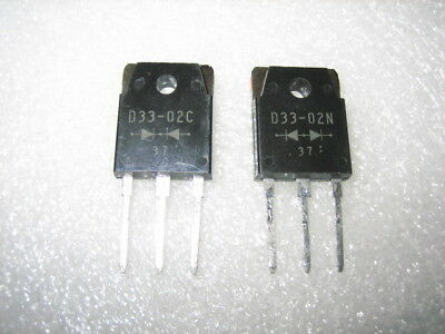 5 pair New ESA D33-02N & D33-02C LOW LOSS SUPER HIGH SPEED RECTIFIER TO-3P