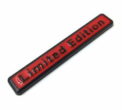 3D Metal Limited Edition Auto Car Sticker Badge Motorcycle Stickers - Red Black