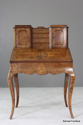 Antique Vintage French Small Ladies Writing Desk TableBurr Walnut Bonheur Du Jou