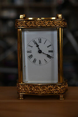 2 Brass carriage clocks by R & Co and Matthew Norman London pre 1900