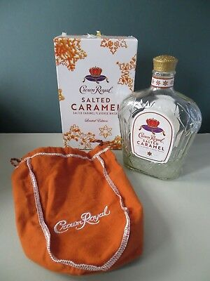 CROWN ROYAL Limited Edition Salted Caramel Box Bag & Bottle EMPTY