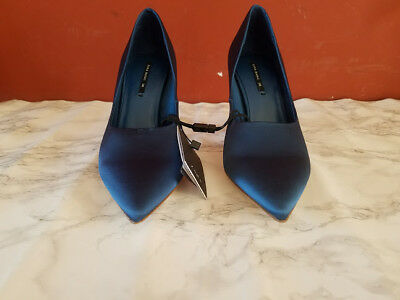 2ab3ae5b1756 VTG WOMENS DKNY Donna Karan Blue Pumps Low Block Heels Size 6 M ...