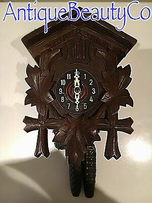 Antique Beautiful German Black Forest Cuckoo Clock