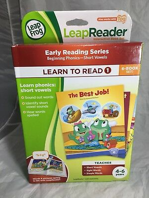 Leap Frog Learn To Read 1 Reader Book Set Consonants Short Vowels Sight Word Tag
