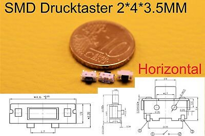SMD Taster Mikrotaster Schalter 2x4x3,5 mm Tablet Mini Micro MP3 4 Handy