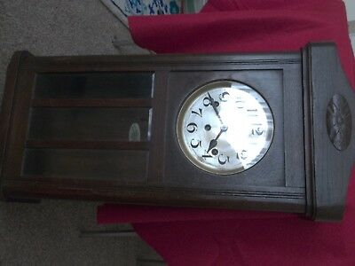 Old wooden wall clock by fontenoy fontenay 5000 picclick uk old wooden wall clock by fontenoy fontenay gumiabroncs Image collections