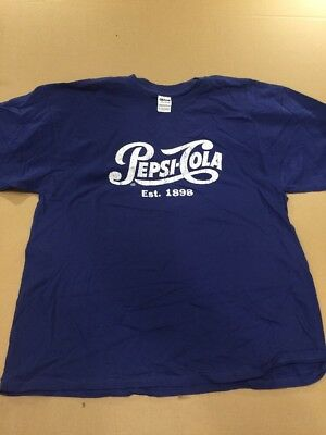 Pepsi Retro Style T-Shirt. Gildan 100% Cotton. Xl. New. Pepsi Cola