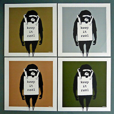"BANKSY - LIMITED Set of 4 DJ DM Laugh Now / Keep It Real 12"" Art Cover Records"