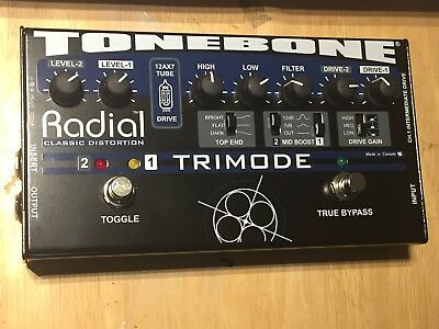 TONEBONE TRIMODE DISTORTION PEDAL - Radial Engineering. High End Tube Overdrive