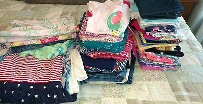 Girls Spring & Summer HUGE clothing lot size 7/8 good condition, 50+ pieces!