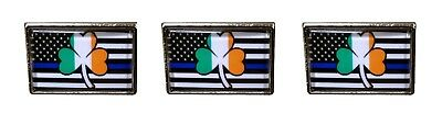Irish Police Pin Thin Blue Line Police Support Lapel Pin Hat Pin Tie Tac 3 Pack