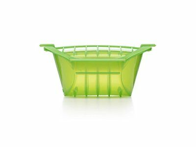 Lekue 3-4 Person Deep Steam Case with Tray and Cookbook Green