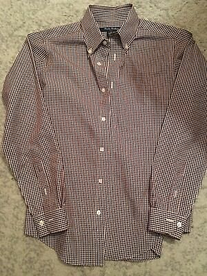 48b10dc73d16 Brooks Brothers Boys size Medium -Checked, Non-Iron Cotton. Worn once!