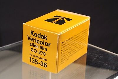 Kodak Vericolor slide film SO-279 135 36 exposure Exp. date 12/84.
