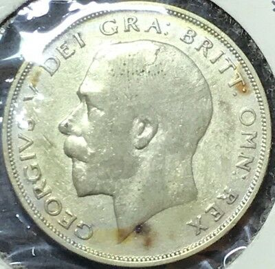 1922 Great Britain Silver  1/2 Crown #146