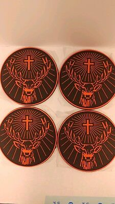 Lot of 4 Jagermeister Rubber Coaster Set New