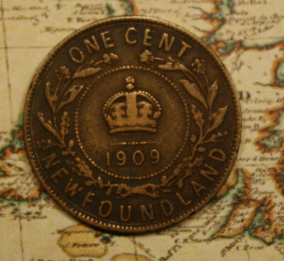 1909 Newfoundland Canada Large Cent Coin - Nf602 - - Pitting On Obverse