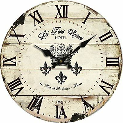 Large Wall Clock Silent Vintage Roman Battery Powered Analog Office Home School