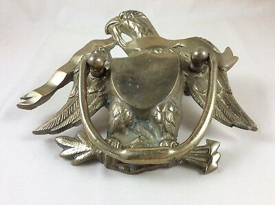 "Vintage Brass Eagle Door Knocker 5.5"" X 7"""