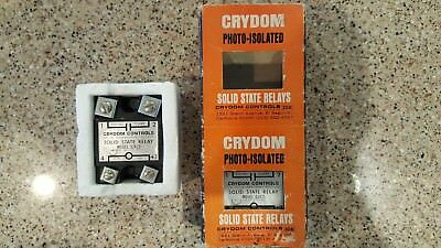 NIB Lot Of 2 Crydom D2425 Solid State Relays-Industrial Mount 25A 240VAC DC
