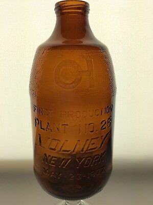 First Production Plant No 25 Volney,N.Y. Owens-Illinois Oswego Glass Beer Bottle