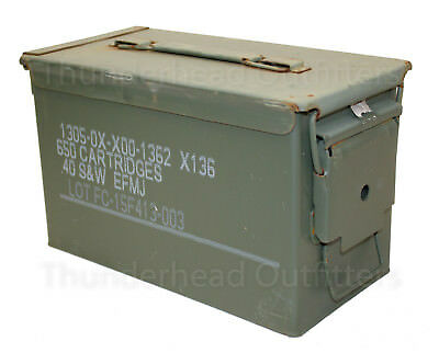 50 CAL AMMO CAN M2A1 Steel USGI Military Surplus FAIR Cond