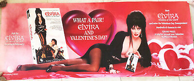 Sexy ELVIRA Poster 24x60 Inches Banner-style Video Poster for MISTRESS OF DARK