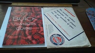 vintage 1955 Buick car auto owners guide book with original envelope