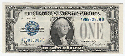 Circulated 1928-A $1 Silver Certificate--Ungraded, Funnyback, Free Shipping