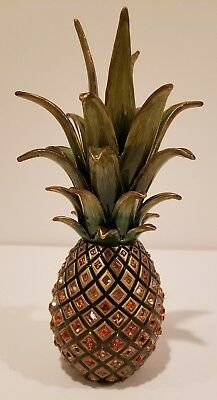 RARE JAY STRONGWATER PINEAPPLE limited edition Mint beautiful crystals & gems