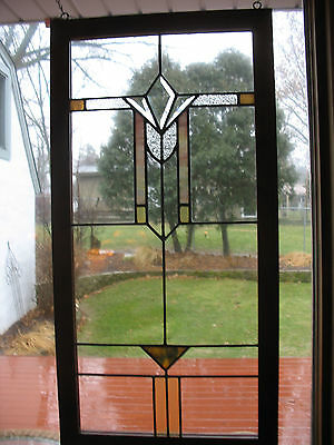Vintage Craftsman Style Stained Glass Window