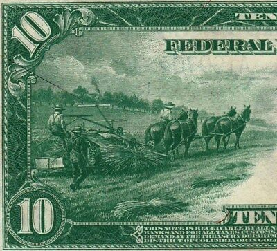 Circulated 1914 $10 Federal Reserve Note--Boston District, Fr. 905, Burke/Glass