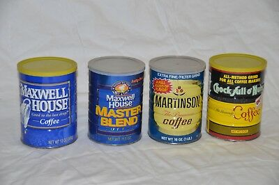 Collection of Four Antique Coffee Cans