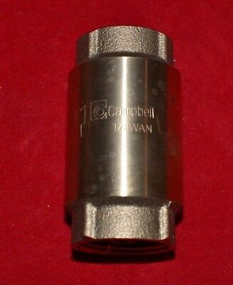 """Campbell 1"""" Spring Check Valve 200 PSI  NEW NEW NEW"""