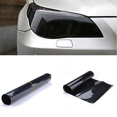 PVC Car Smoke Fog Light Headlight Taillight Tint Vinyl Film Sheet Sticker Black