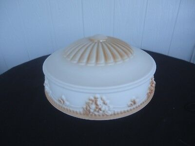 vintage bowl for chain light shade art deco ceiling light 1920's  2 available