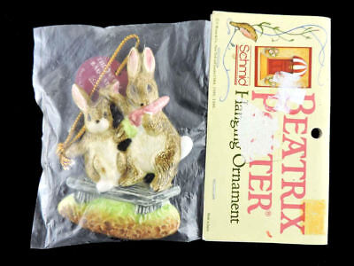 BEATRIX POTTER SCHMID FIERCE BAD RABBIT CHRISTMAS ORNAMENT Japan RARE