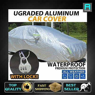 Aluminum Car Cover Waterproof Double Thicker 8-Layers Vehicle Protection Anit-UV