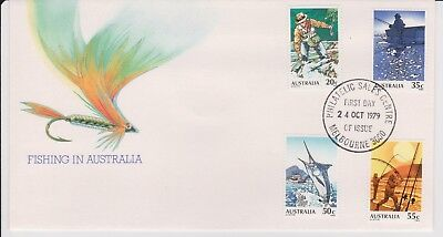 1979 Fishing In Australia First Day Cover Of Australian Stamps