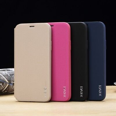 Genuine Luxury Ultra-thin Soft Leather Flip Wallet Case TPU Stand Phone Cover