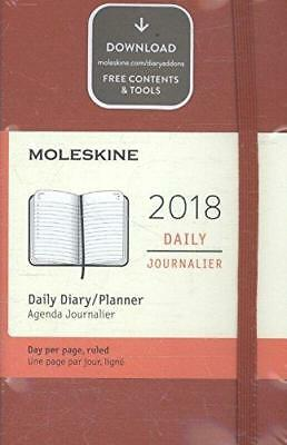 Moleskine 12 Month Daily Weekly Planner Pocket Scarlet Red Plain Hard Cover New