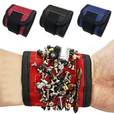 Strong Magnetic Wristband Adjustable Screws Nails Nuts Bolts Belt Tray Tools