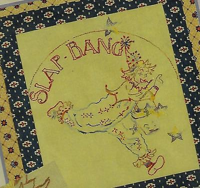 Slap Bang Cushion to Sew & Embroider Thimblestitch Brenda Ryan embroidery