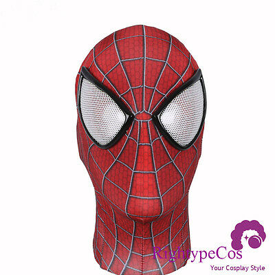 US SHIP Amazing Spider-man 2 mask 3D Digital printing Headwear No Faceshell Mask