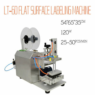 110V US STOCK Semi-automatic Labeller LT-60 Plane Flat Surface Labeling Machine